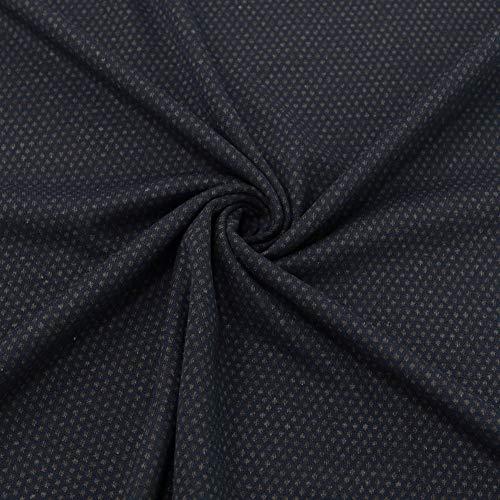 TOLKO 50cm Baumwollstoffe | T-Shirt- und Kleider Jersey als Meterware | für weiche elastische Bekleidung (Dunkel Blau 160cm Breit)