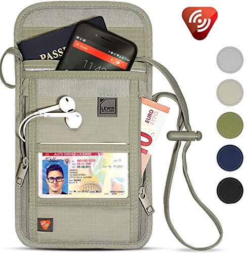 Lewis N. Clark RFID Blocking Stash Neck Wallet, Travel Pouch + Passport Holder...