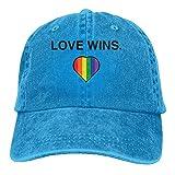 zhouyongz Gay Pride -Love WINS - Gorra de béisbol para adulto con estampado atlético ajustable para hombres y mujeres