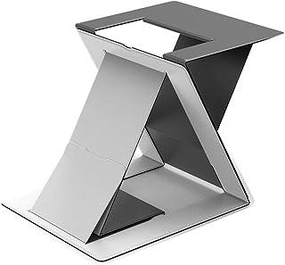 Oporte de Monitor Stand-up Laptop Stand Dispositivo de Almacenamiento de Aumento de elevación del radiador Plegable Invisible Neck Brace Soporte portátil Soporte de pc (Color : Gray)