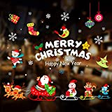 WELLXUNK® Pegatinas Ventanas Navidad, Decoracion Navidad Pegatinas, Pegatina Calcomanía de...
