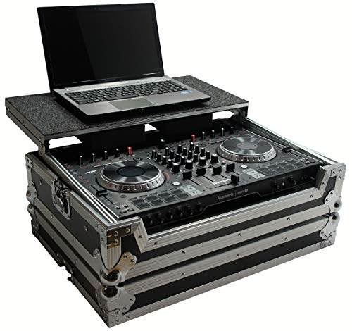 Harmony HCNS6IILT Flight Glide Laptop Stand DJ Custom Case Compatible with Numark NS6 II