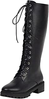 Melady Women Fashion Combat Boot Knee High