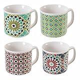 Agadir - Juego de 4 tazas de porcelana china 380 ml