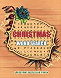 Christmas Word Search Large Print Puzzles for Women: Word search puzzle book