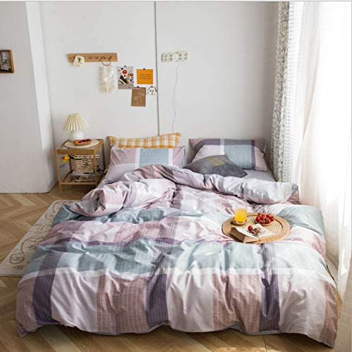 DUIPENGFEI Autumn And Winter Pure Cotton Simple Style, Quilt Cover, Bed Sheet, Pillowcase, 3-piece Set, Mesh, Suitable For 1.2m Single Bed
