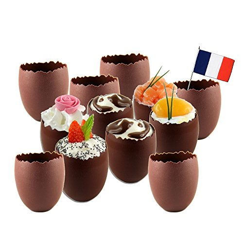 KUBB Lot 12 verrines Oeuf réutilisables Made in France Chocolat