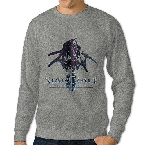 bekey Hombres de Starcraft II sudadera con capucha chaqueta de fresno