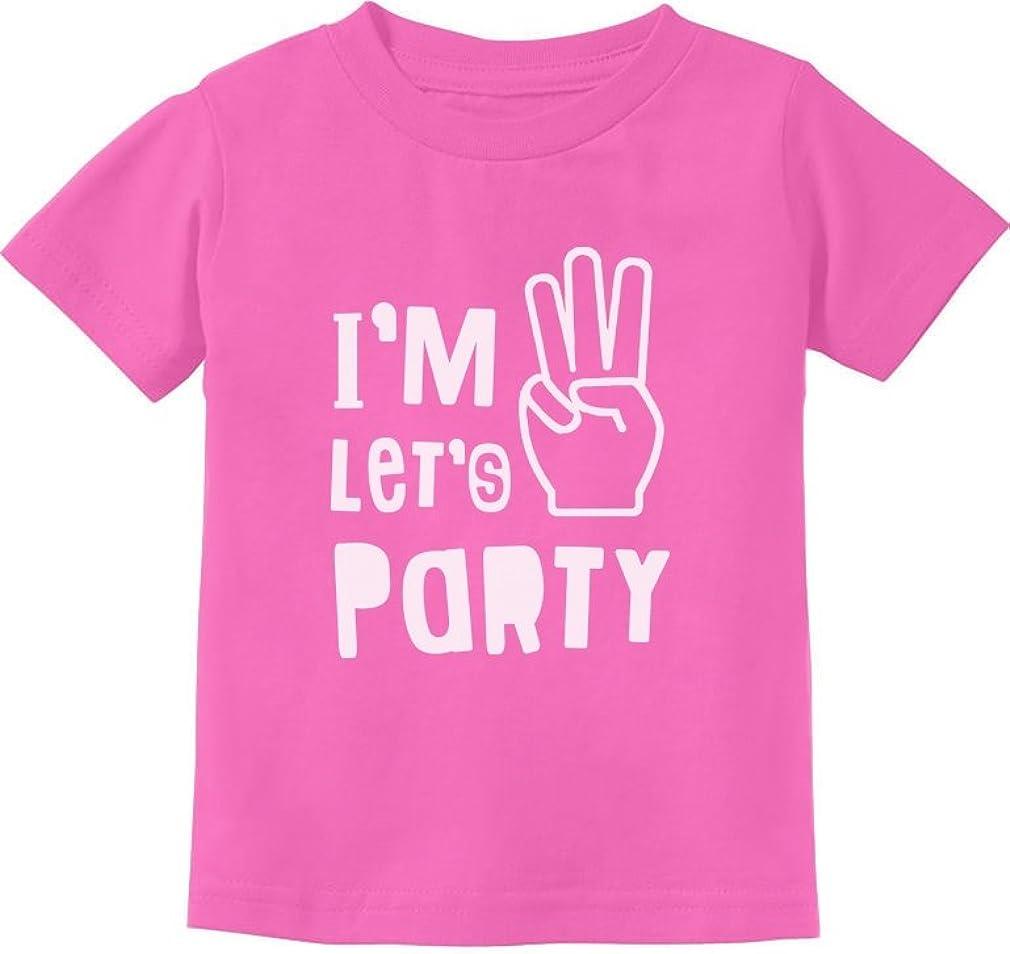 I'm Three Let's Party 3rd Birthday Shirt Cute 3rd Birthday Gift Toddler T-Shirt