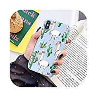 Ai_xiaomojiFor iPhone 11 Pro Max 12 Mini X XS Max XR TPU Cover For iPhone 7 8 6 S 6S Plus 5 5S SE 2020Funda用のかわいいアルパカパターン電話ケース-ytxrzhan-For iPhone 12 Pro