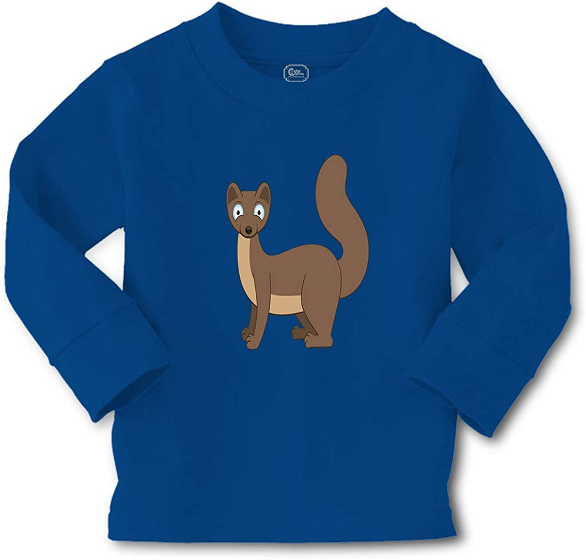 Kids Long Sleeve T Shirt Little Animal Similar to Squirrel Funny Humor Cotton
