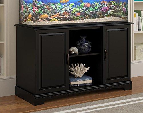 Ameriwood Home Harbor 50 - 75 Gallon Aquarium Stand, Black