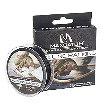 Maximumcatch Fly Line Backing for Fly Fishing Braided 20/30lb,100/300yards by Maxcatch
