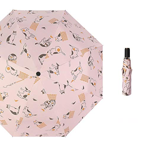 Parasol Parapluie Parapluies Pliant Anti-UV Parapluie Pliable Pliable Protection Solaire Parapluie Pluie Parasol Yd200008Pk