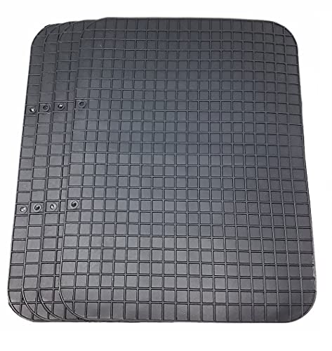 Vetrineinrete® Tappetini per Auto universali Antiscivolo 4 Pezzi tappeti in Gomma 43x33 cm X74