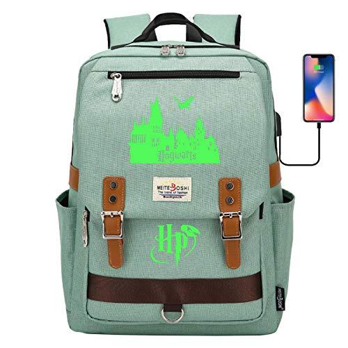 Harry Potter Kinderleuchtende Schultasche Leichter Reiserucksack, geeignet für 6~15 Schüler Rucksack Grau 42 × 30 × 16CM # 14