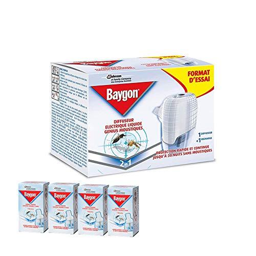 BAYGON Genius anti zanzare Diffusore Genius con ricarica liquida + 4 RICARICHE INCLUSE