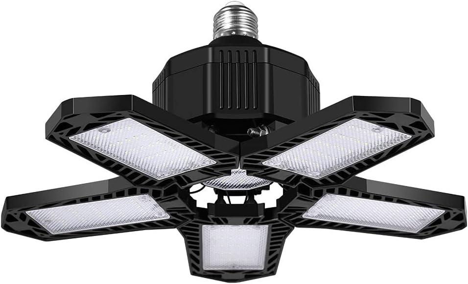 FuMeiJiaJiaJu 8000LM/10000LM 137/157LED 5 hojas ventilador garaje luces de techo plegables negro