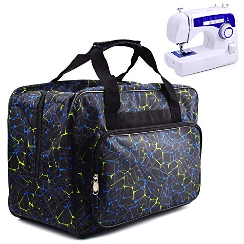 Lowest Prices! TLBTEK Black Sewing Machine Carrying Case,Universal Canvas Carry Tote Bag with Should...
