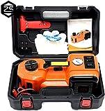 MRCARTOOL 5T (11023lb) Kit de Gato de Piso hidráulico de Capacidad para automóvil eléctrico, Gato de automóvil de 12 V CC, Kit de Herramientas de Emergencia Multifuncional para automóvil 3 en 1