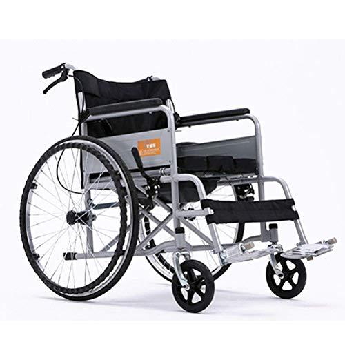 GLXLSBZ Rueda Plegable livianaDriving Medical, Rueda de Acero Engrosada con Inodoro Home Old Scooter Rueda portátil Silla de Ruedas (Regalos para Personas Mayores) ⭐