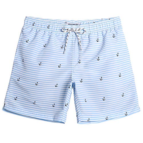 MaaMgic Mens Quick Dry Long Swim Trunks Slim Fit Boardshorts