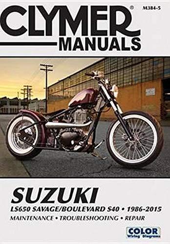 Suzuki LS650 Savage Boulevard S40 Motorcycle (1986-2015) Clymer Repair Manual