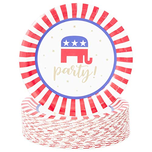 Republican Party Election Plates (7 in, 48 Pack)
