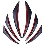 WXLAA Alette Canard Splitter Spoiler Anteriore per Auto in Fibra di Carbonio, Paraurti Universale Set 6pz
