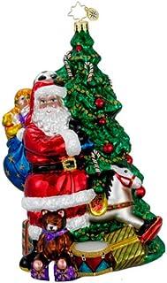 Radko The Perfect Scene Santa Christmas Glass Ornament New