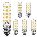 E14 LED Maíz Bombillas Regulable 7W Equivalente a 50W Halógeno Bombillas, Blanco cálido 2700K, E14 El ahorro de energía Bombilla, sin parpadeo, regulable, 560LM, CA 220-240V, paquete de 5