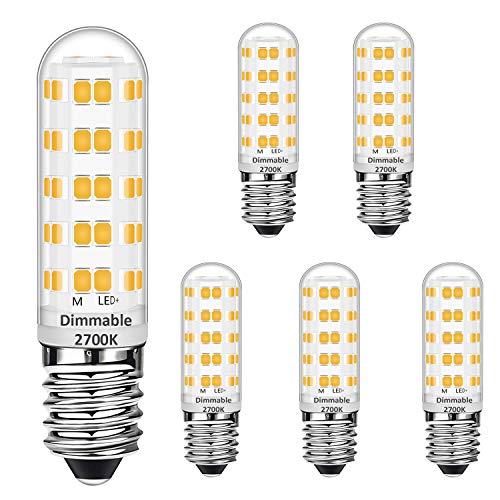 E14 GUIDATO Mais Bulbi dimmerabile 7W Equivalente a 50W alogena Bulbi, Bianco caldo 2700K, E14 Risparmio energetico Lampadina, senza sfarfallio, dimmerabile, 560LM, CA 220-240V, confezione da 5 pezzi