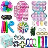 Fidget Toy Set, 30pcs Sensory Toys Pack barato para niños y adultos, herramientas para aliviar el estrés y combatir la ansiedad, Fidget Box con simple y Pop Its Toy Kill Time