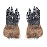 LONTG Halloween Wolf Handschuhe Horror Böse Wolf Gloves Erwachsene Damen Herren Fingerhandschuhe Halloween Kostüm Wolf Deko Werwolf Kleidungszubehör für Halloween Kostümparty Cosplay Fasching