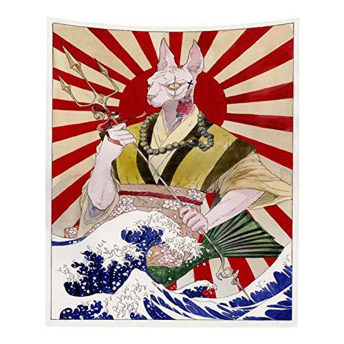 NGHSDO Tapiz Pared Manta Gran Tapiz Ballena Arowana de Phoenix del dragón Colgar de la Pared Cama Manta Decoración Tapiz Tapices De Pared (Color : Brown, Size : 150cm 200cm)