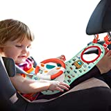 UNIH Baby Car Seat Toys with Mirror, Steering Wheel Carseat Toys for Infants with Music Lights and...