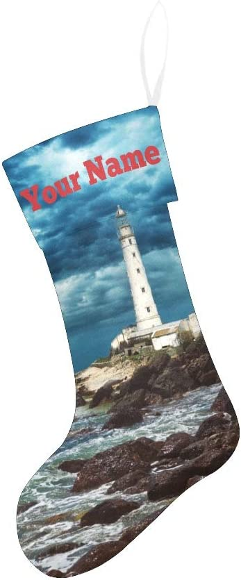 CUXWEOT Max 57% OFF Personalized Christmas Stocking with Seasonal Wrap Introduction Stormy Name Custom