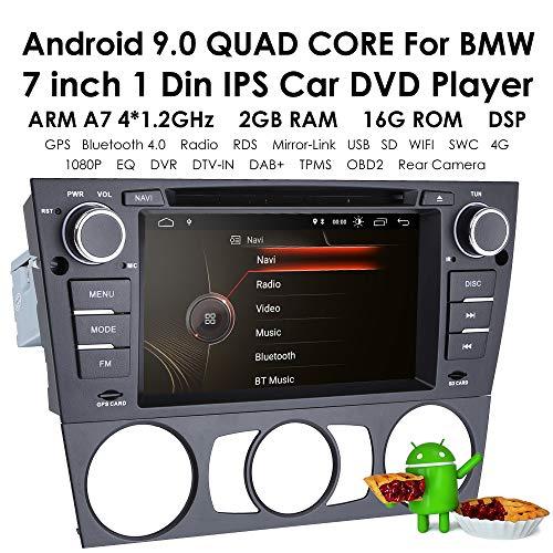 hizpo Android 9.0 Quad Core 7 inch autoradio multi-screen radio CD DVD speler 1080P videoscherm geschikt voor BMW E90 / 2006-2012 E91 / 2006-2012 E92 / 2006-2012 E93 / 2006-2012