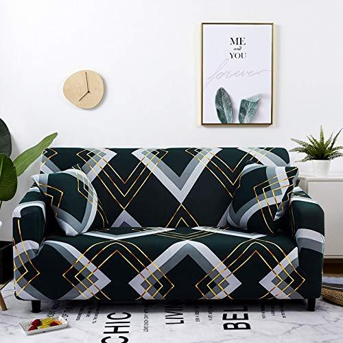 WXQY Funda elástica para sofá a Cuadros, Paquete Completo, Funda de sofá elástica antiincrustante para Sala de Estar, Funda para Silla de sofá A24, 2 plazas