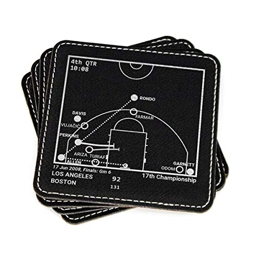 Greatest Celtics Plays - Leatherette Coasters (Set of 4)