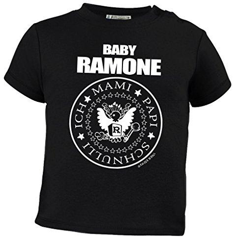 Racker-n-Roll Baby Ramone Sabber sabber Hey Baby-T-Shirt schwarz, Größe 92