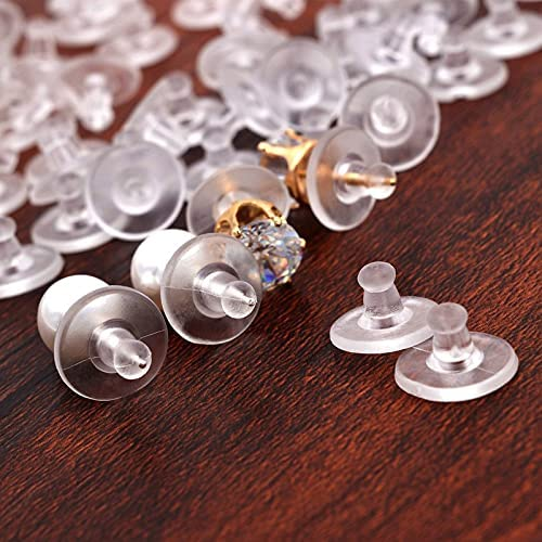 FC-01745 2021new shipping free DIY-Jewelry 100pcs Transparent Block Spring new work Plugging Ear Round