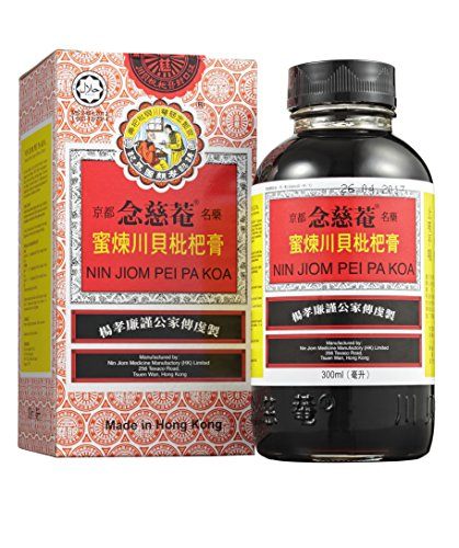 Nin Jiom Pei Pa Koa – Jarabe para el dolor de garganta- 100% Natural (Honey Loquat Flavored) 300 ml