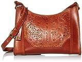 Frye Melissa Artisan Zip Leather Crossbody, Cognac