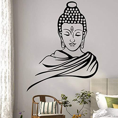 XCSJX Buda religioso Pegatinas de Pared Dormitorio Sala de Estar Zen Pegatinas de Pared Cocina pequeño Comedor Vinilo decoración del hogar 67x53 cm