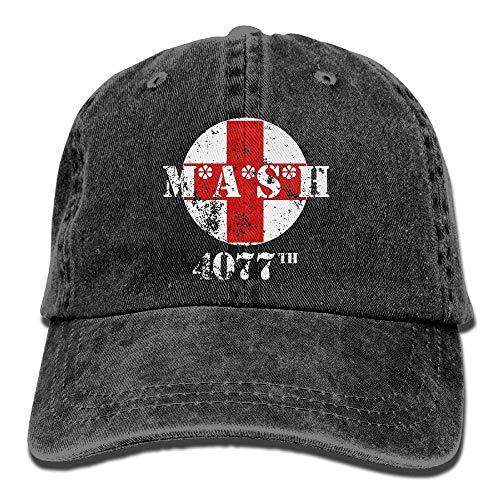 Voxpkrs MASH 4077th Unisex Baseball Cap Cowboy Hat Bill Snapback Hats ABCDE09600