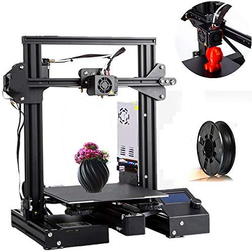 CTC Stampante 3D fai-da-te economica e di buona qualità, struttura in metallo, curriculum di stampa, monitoraggio interruzione materiale, stampante FDM, con PLA o ABS