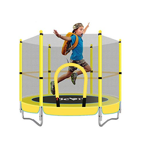 5FT Trampoline Jumper Indoor Home Outdoor Suitable for Kids, with Safe Net, Parent-Child Toys Fitness Entertainment Projects,Best Birthday Gift