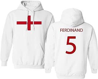 Soccer Legends #5 Rio Ferdinand Jersey Style Men's Hooded Sweatshirt