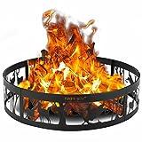 YILUFA Ciervo del anillo del hoyo del fuego del metal W/trazador de líneas extra de la hoguera del póker para la fogata 36'